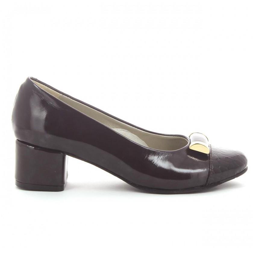 Sapatos Verniz Castanho...
